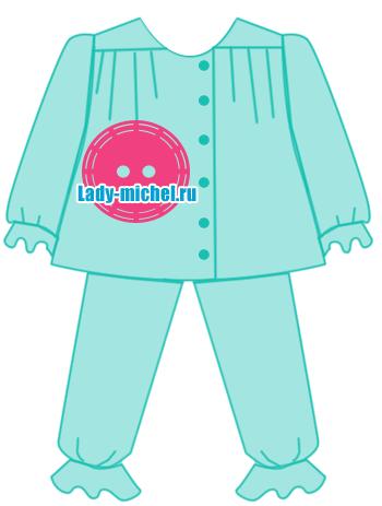Выкройка детской пижамы 39