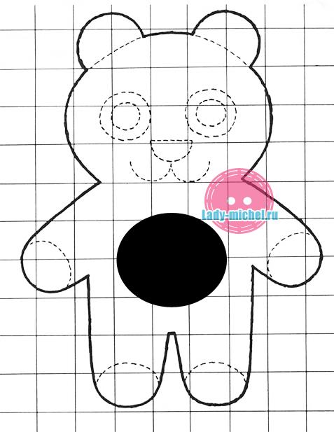 Выкройка медвежонка паддингтона