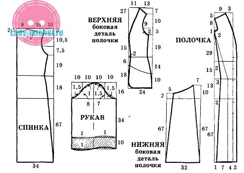 Выкройка медицинского халата с размерами