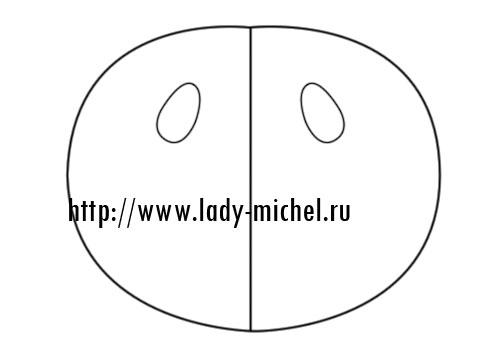 круга жилет выкройка из овала или