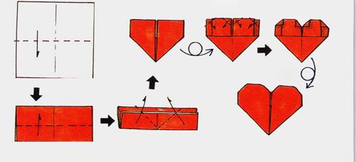 Как из листа бумаги сделать сердечко