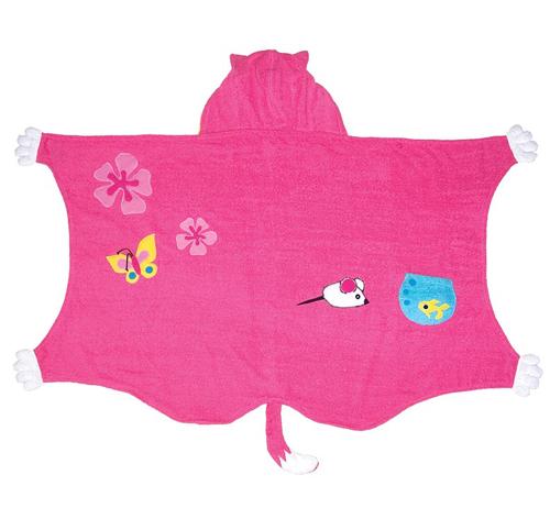 Продуманные лекала позволяют использовать полотенце с капюшоном различных местах.